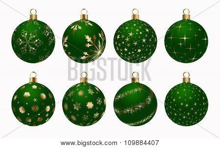 Christmas Ball Green Gold