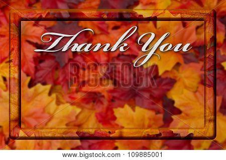 Thank You Fall Season Background