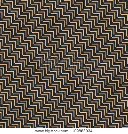 Beige And Black Geometric Design Tile Pattern Repeat Background