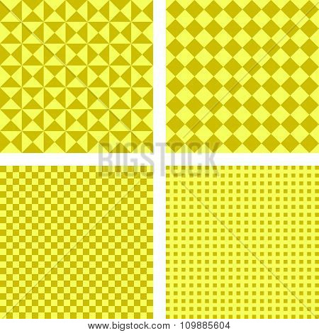 Simple yellow pattern background set