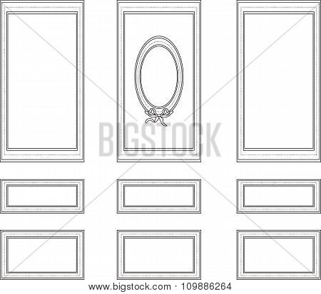 Wainscoting decorative frame