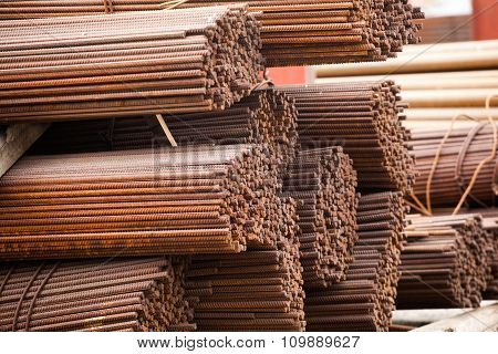 Stack of rods or bars