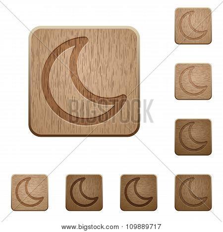 Moon Wooden Buttons