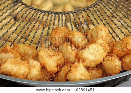 Taro Fried On A Pan