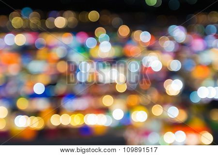 Night bokeh lights background, colorful light