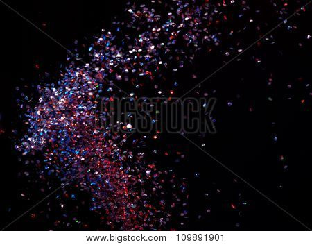 Shiny particles background