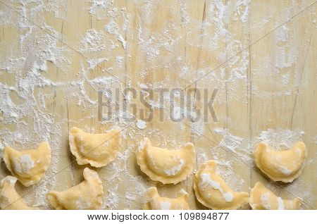 Making of pierogi with potato