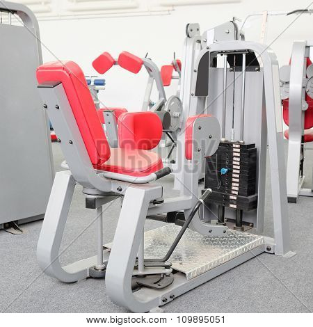 interior of gym with equipment