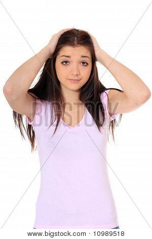 Desperate teenage girl