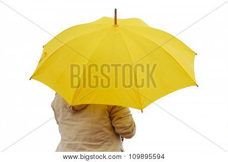 The image of a girl with umbrella