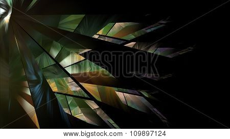 Abstract Green Starburst Fractal Illustration
