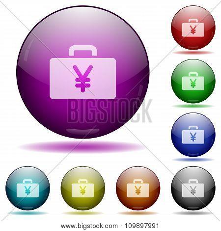 Yen Bag Glass Sphere Buttons