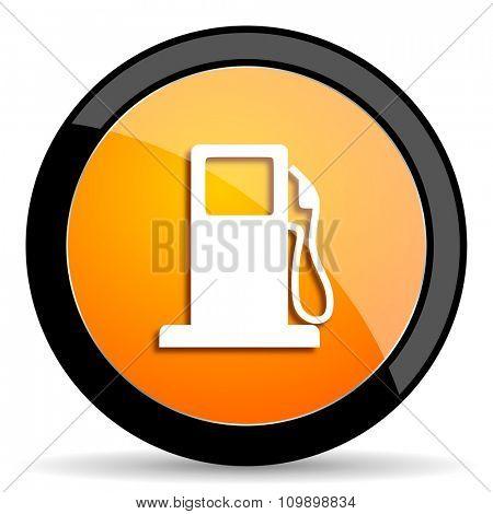 petrol orange icon