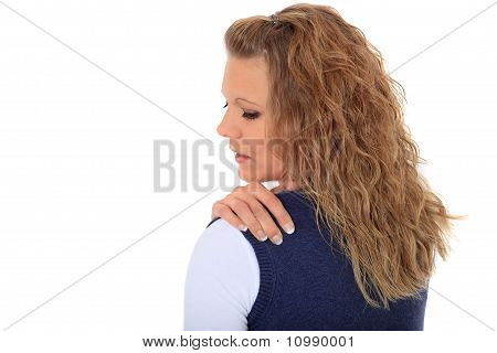 Woman suffering from tension