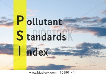Pollutant Standards Index
