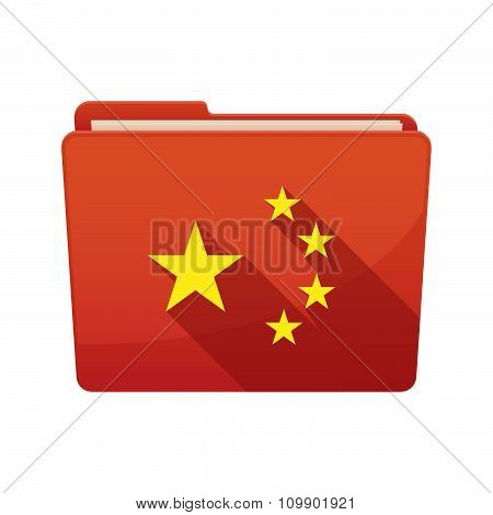 Long Shadow  Binder With   The Five Stars China Flag Symbol