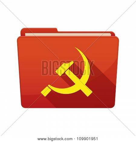 Long Shadow  Binder With   The Communist Symbol