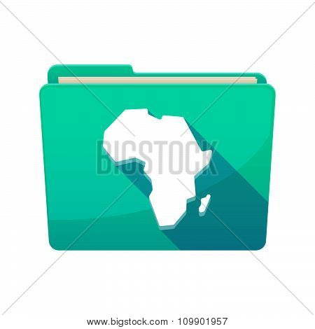 Long Shadow  Binder With   A Map Of The African Continent