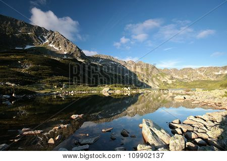 Pond in a valley in the Tatra Mountains