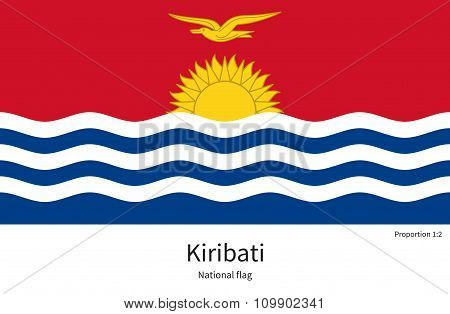 National flag of Kiribati with correct proportions, element, colors