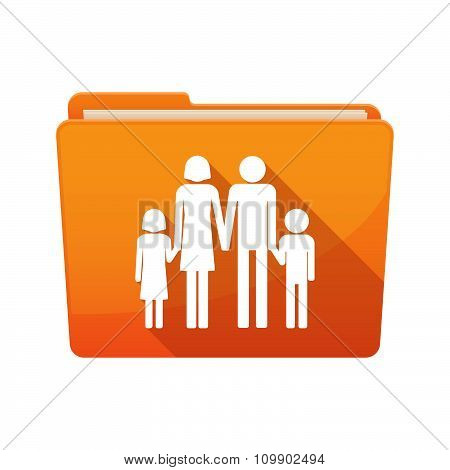 Long Shadow  Binder With  A Conventional Family Pictogram
