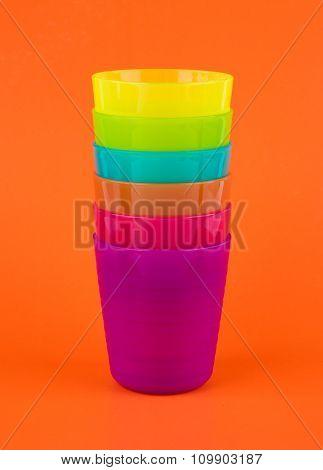 Stack Plastic Glass,rainbow Color