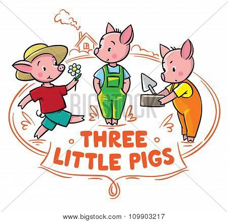 Little piglets from fairy tale