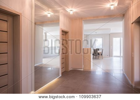 Beige Illuminated Anteroom