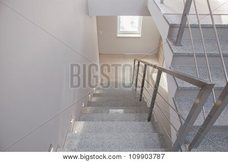 Empty Staircase In Detached House