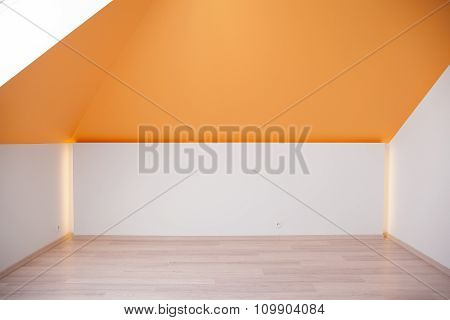 Orange Slanted Ceiling