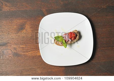 Topaz On White Plate