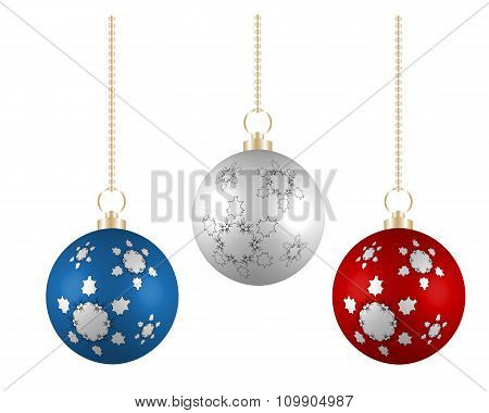 Christmas Balls In France Colors