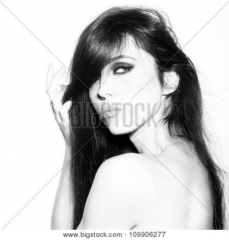Sensual Brunette Woman