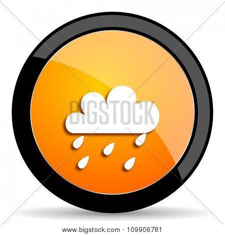 rain orange icon