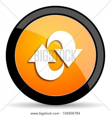 rotation orange icon