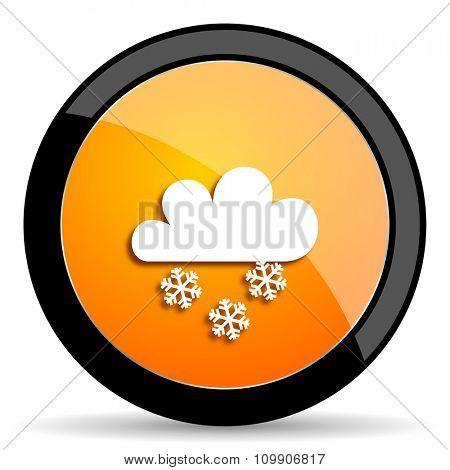 snowing orange icon