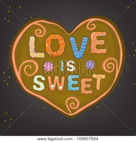 Love Gingerbread vector