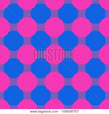 Pop Art Polka Dot Seamless Background