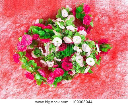 Beautiful artificial flowers.