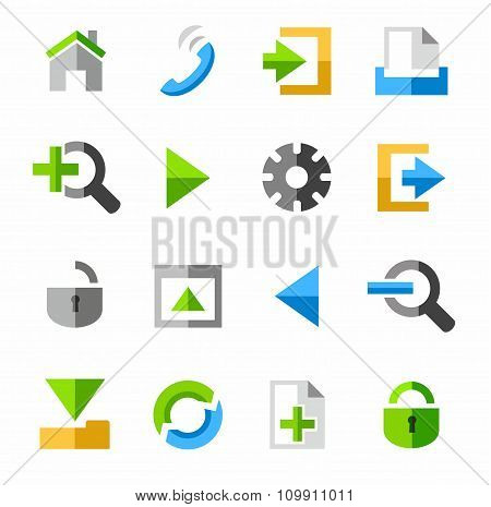 Internet And Toolbar Icons, C...