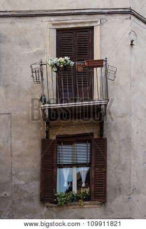 crooked balcony