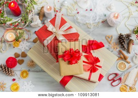 Different present boxes