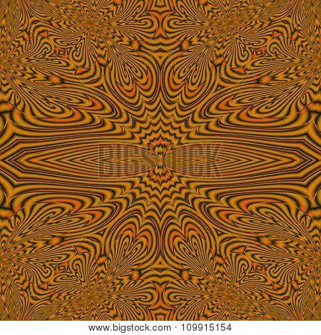Black and orange motley pattern