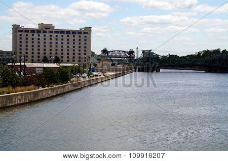 Harrah's Casino Near the Cass Street Bridge