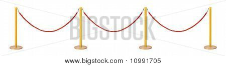 Golden Velvet Rope Barrier