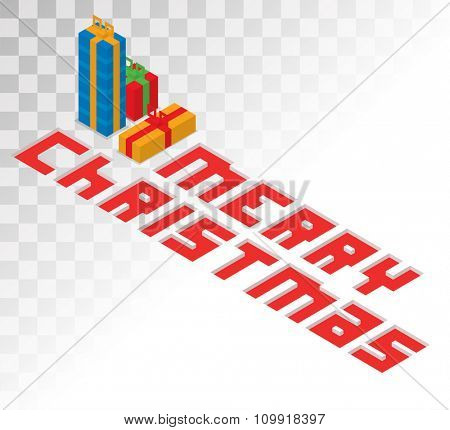 Colorful 3d isometric gift boxe ribbon vector. Gift boxe red bow vector illustration. Vector Christmas red bow gift box. Christmas bow isolated on white. Christmas, birthday gift box bow icon. Holiday