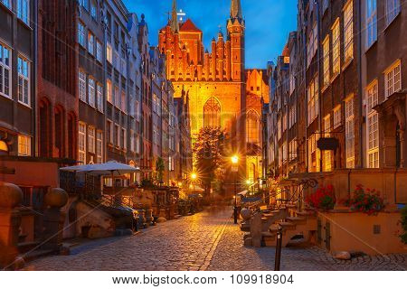 Mariacka street in Gdansk Old Town, Poland