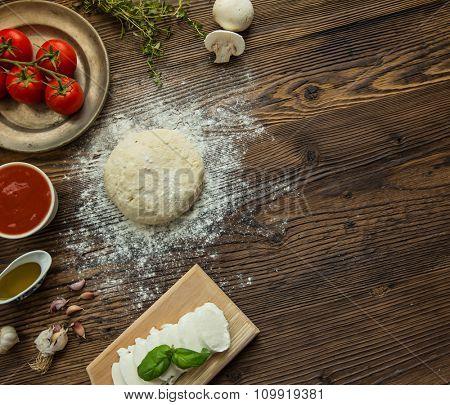 Italian pizza preparation.