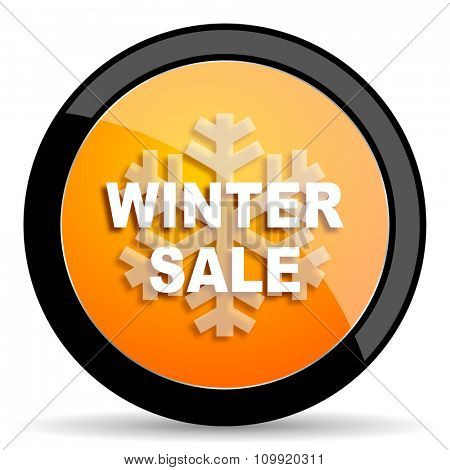 winter sale orange icon