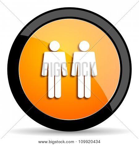 couple orange icon
